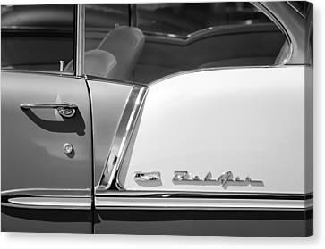 1969 Chevrolet Belair Grille Emblem Canvas Print by Jill Reger