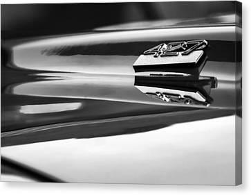 1969 Chevrolet Camaro 427 Hood Emblem - 0879bw Canvas Print by Jill Reger