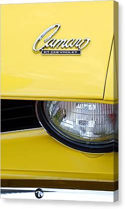 1969 Chevrolet Camaro Emblem -0241c Canvas Print by Jill Reger