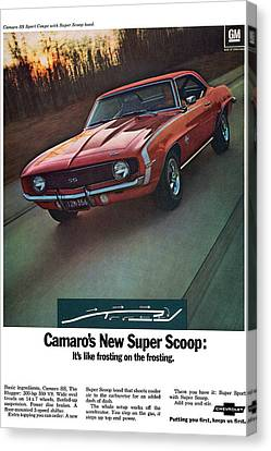 1969 Chevrolet Camaro New Super Scoop Canvas Print by Digital Repro Depot