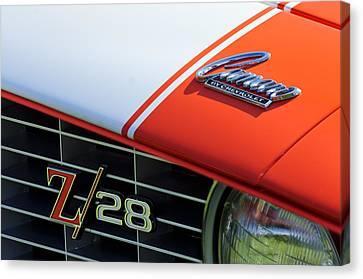 1969 Canvas Print - 1969 Chevrolet Camaro Z-28 Emblem by Jill Reger