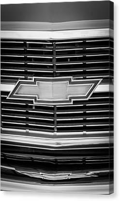1969 Chevrolet Chevelle Grille Emblem Canvas Print by Jill Reger