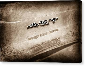1969 Chevrolet Corvette 427 Emblem Canvas Print by Jill Reger
