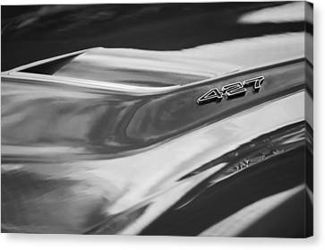 1969 Chevrolet Corvette Roadster 427 Hood Emblem -0654bw Canvas Print by Jill Reger