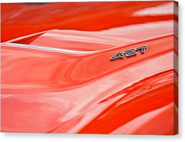 1969 Chevrolet Corvette Roadster 427 Hood Emblem Canvas Print by Jill Reger