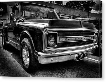 1969 Chevrolet Pickup V Canvas Print by David Patterson