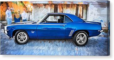 1969 Chevy Camaro Rs 396 Painted  Canvas Print by Rich Franco