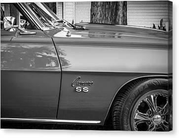 1969 Chevy Camaro Ss 396 Painted Bw Canvas Print by Rich Franco