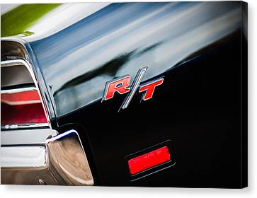 1969 Dodge Charger Rt Rear Emblem Canvas Print by Jill Reger