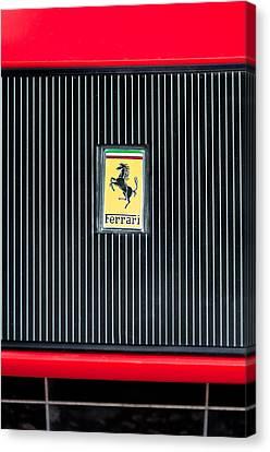 1969 Ferrari 365 Gtb-4 Daytona Emblem Canvas Print by Jill Reger