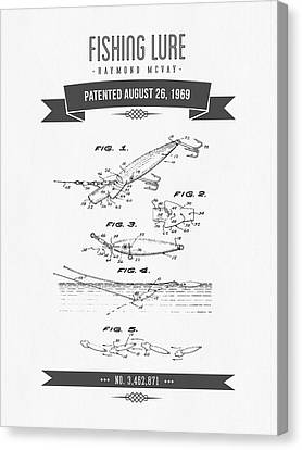 1969 Fishing Lure Patent Drawing Canvas Print by Aged Pixel