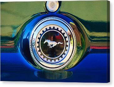 1969 Ford Mustang 302 Emblem Canvas Print by Jill Reger