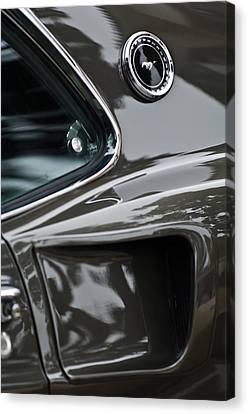 1969 Ford Mustang Mach 1 Emblem 2 Canvas Print by Jill Reger