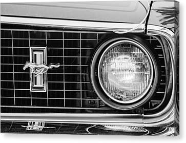 1969 Ford Mustang Mach 1 Grille Emblem Canvas Print by Jill Reger