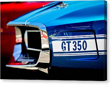 1969 Ford Mustang Shelby Gt350 Grille Emblem Canvas Print by Jill Reger