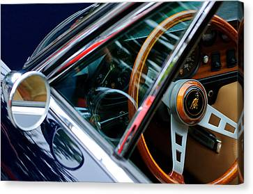 1969 Lamborghini Islero Steering Wheel Emblem Canvas Print by Jill Reger