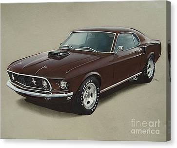 1969 Mustang Fastback Canvas Print