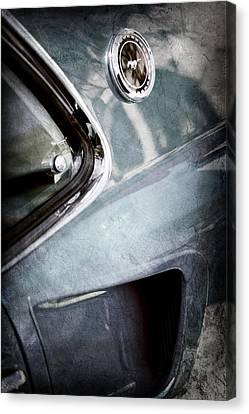 1969 Mustang Mach 1 Emblem Canvas Print by Jill Reger