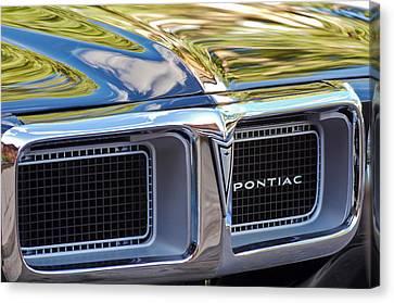1969 Pontiac Firebird 400 Grille Canvas Print by Jill Reger
