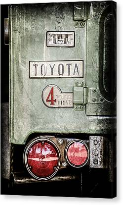 1969 Canvas Print - 1969 Toyota Fj-40 Land Cruiser Taillight Emblem -0417ac by Jill Reger