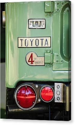 1969 Toyota Fj-40 Land Cruiser Taillight Emblem -0417c Canvas Print by Jill Reger