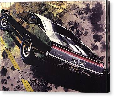 Virgil Canvas Print - 1970 Barracuda Plymouth Vintage Styling Design Concept Sketch Frank Kendrickson by ArtFindsUSA