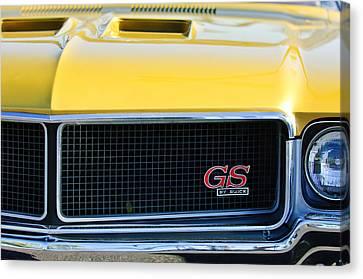 1970 Buick Gs Grille Emblem Canvas Print by Jill Reger
