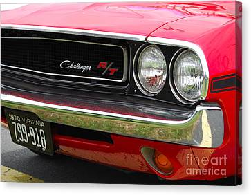 1970 Challenger Grill Canvas Print by Mark Spearman