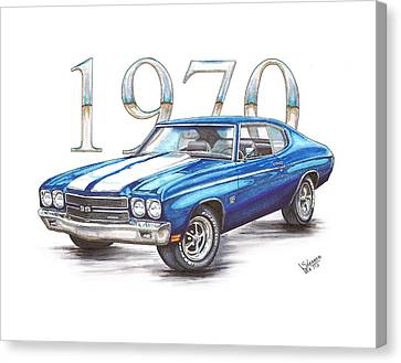 Chevrolet Chevelle Canvas Print - 1970 Chevrolet Chevelle Super Sport by Shannon Watts