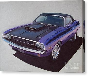 1970 Dodge Challenger Canvas Print by Paul Kuras