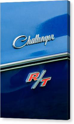 1970 Dodge Challenger Rt Convertible Emblem Canvas Print by Jill Reger