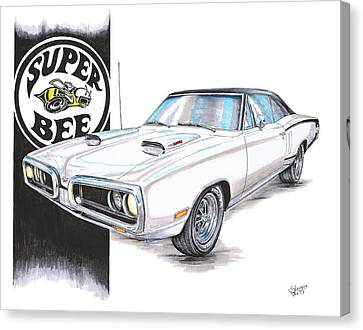 1970 Dodge Super Bee Canvas Print by Shannon Watts
