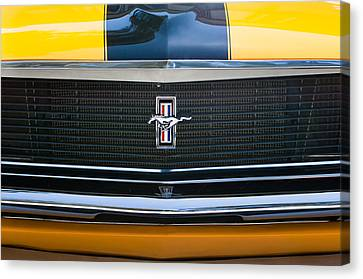 Grill Canvas Print - 1970 Ford Mustang Boss 302 Grille Emblem by Jill Reger