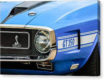 1970 Ford Mustang Convertible Gt350 Replica Grille Emblem Canvas Print by Jill Reger