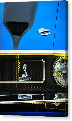 1970 Ford Mustang Gt350 Replica Grille Emblem Canvas Print by Jill Reger