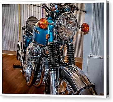 Canvas Print featuring the photograph 1970 Honda Cb 750 by Steve Benefiel