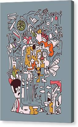 1970 John Rolling Stones Interview  Canvas Print by Jos De La Paz