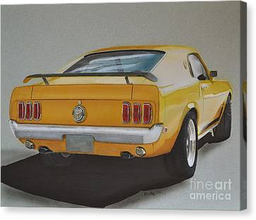 1970 Mustang Fastback Canvas Print by Paul Kuras
