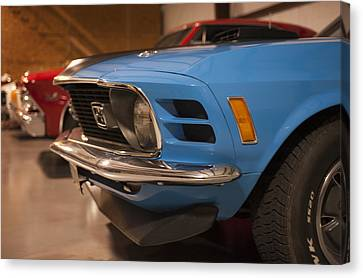 1970 Mustang Mach 1 And Other Classics Hidden In A Garage Canvas Print