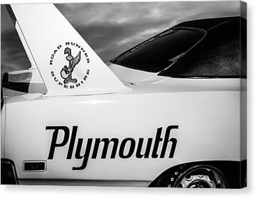 1970 Plymouth Superbird Emblem -0520bw Canvas Print by Jill Reger