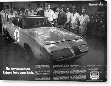 Gratiot Canvas Print - 1970 Plymouth Superbird - The Obvious Reason Richard Petty Came Back by Digital Repro Depot