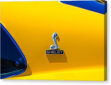 1970 Shelby Cobra Gt350 Fastback Emblem Canvas Print by Jill Reger