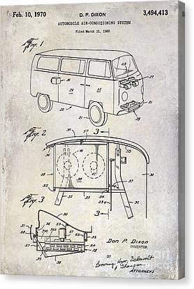 1970 Vw Patent Drawing Canvas Print by Jon Neidert
