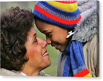 Caring Mother Canvas Print - 1970s 1980s Smiling African American by Vintage Images