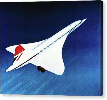 1970s Concorde In Flight Canvas Print by Us National Archives
