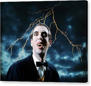 Half-length Canvas Print - 1970s Dracula Vampire Character Looking by Vintage Images