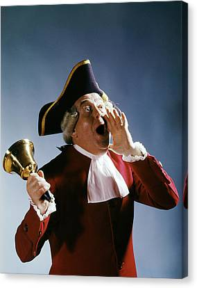 Colonial Man Canvas Print - 1970s Man Colonial Town Crier 18th by Vintage Images