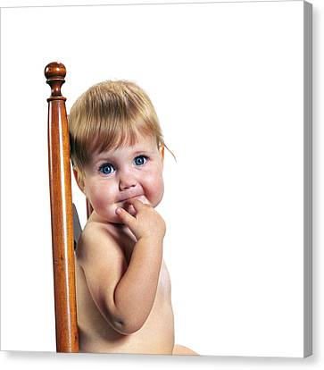Old Blue Eyes Canvas Print - 1970s Portrait Cute Blond Blue Eyed by Vintage Images