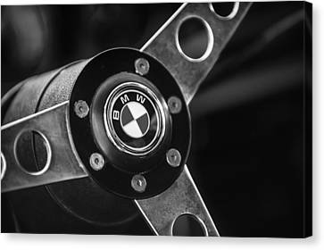 1971 Bmw 3.0csl Lightweight Prototype - Steering Wheel Emblem -0498bw Canvas Print by Jill Reger
