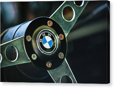 1971 Bmw 3.0csl Lightweight Prototype - Steering Wheel Emblem -0498c Canvas Print by Jill Reger